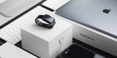 Image showing brand new Apple computer, iPad, iPhone, and Apple Smartwatch.